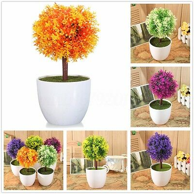 Artificial Topiary Tree Ball Plants Pot Garden Home Office Decor Outdoor Indoor