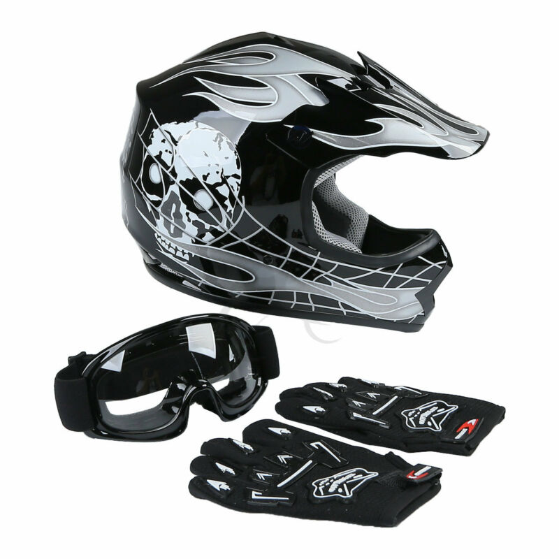 L Motorbike Crash Helmet for Downhill Off Road Quad Bike Protective Gear. Kids Youth Kids full face integral helmet BMX MTB ATV bike race motorbike helmets Kids quad bike helmet