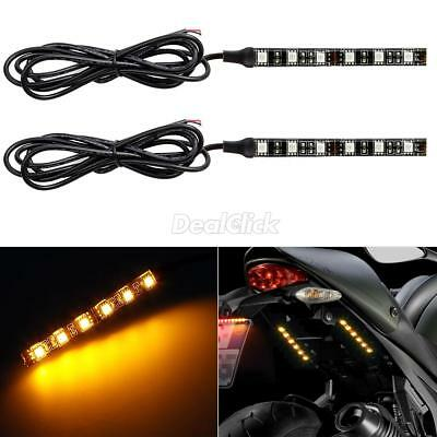 - 2pc Turn signal taillight Amber 6 LED blinker lights Strip for yamaha motorcycle