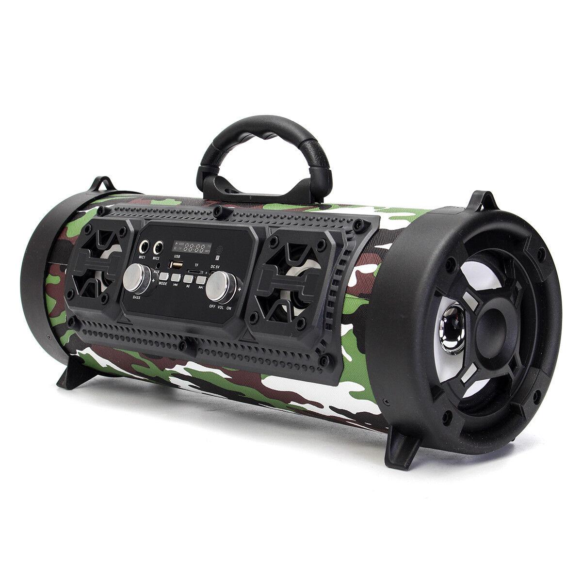 Portable Wireless Bluetooth Speaker Super Bass Stereo Radio HIFI FM TF AUX USB