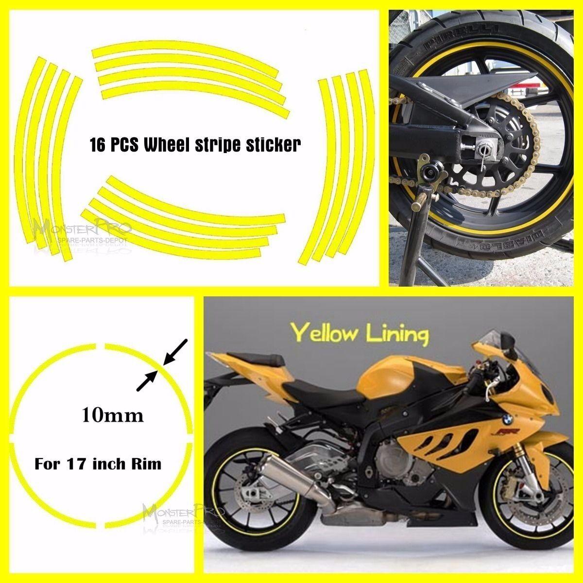 "MOTORCYCLE 17/"" Motorbike WHEEL RIM STRIPE TAPE HONDA YAMAHA KAWASAKI SUZUKI KTM"
