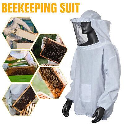 Bee Keeper Suit Beekeeping Veil Hood Jacket Outfit Hat Sting Full Body