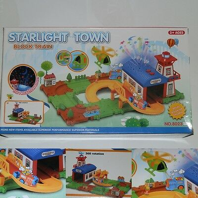 Elektrische Batterie Eisenbahn Stadt Train Zug City Starter Set Light & Sound