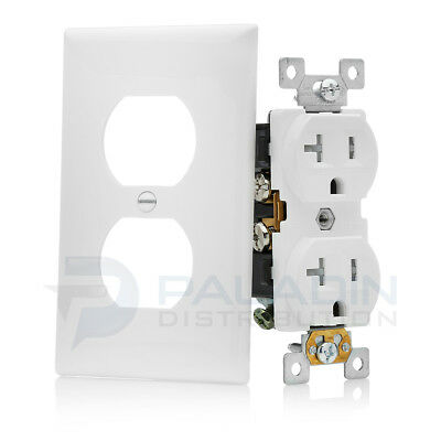 20A Tamper Resistant Child Safe Outlet w/ Wall Plate - UL Listed TR (10 Pack)