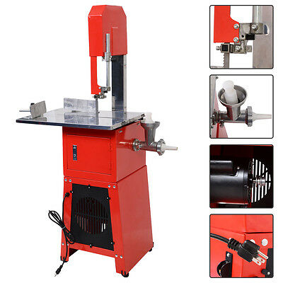New Electric 550W Stand Up Butcher Meat Band Saw & Grinder Processor Sausage