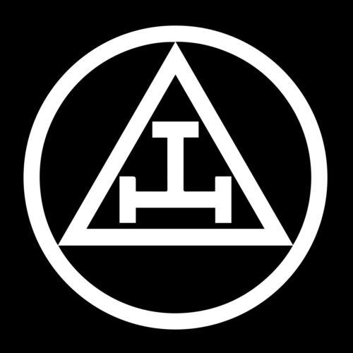 Royal Arch Circle Masonic Vinyl Decal - White 6 Inch