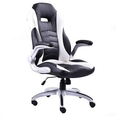 New Pu Leather Executive Racing Style Bucket Seat Office Desk Chair Gaming Chair