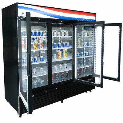 New 3 Glass Door 82 Freezer Merchandiser Display Nsf Atosa Mcf8728gr 4659