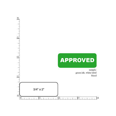 Printed Stickers 34 X 2 Rectangle 2000 Custom Business Labels 1-color Ink
