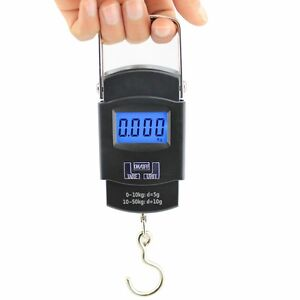 Portable 50kg 10g lcd digital fish hanging luggage weight for Best digital fish scale