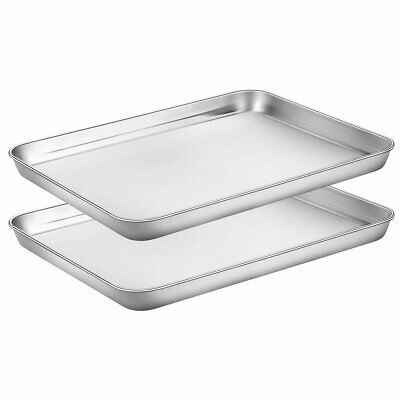 Baking Sheets Set of 2, Rectangle Size 12L x 10W x 1H inch