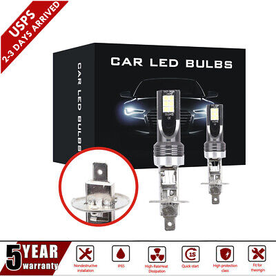 MINI H1 LED Headlight Bulbs Conversion Kit 1500W 225000LM 6000K Hi/Lo Beam Lamps