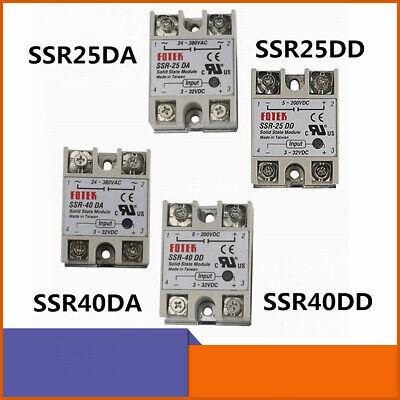 SSR-25DA/SSR-25DD, SSR-40DD/SSR-40DA Solid State Relay 25A/40A 3-32V DC/5-380V
