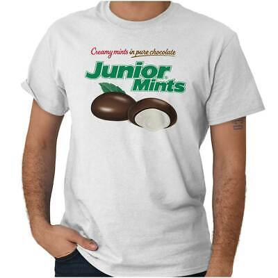 Junior Mints Mint Candy (Vintage Junior Mints Chocolate Candy Logo Short Sleeve T-Shirt Tees)