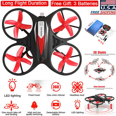 Mini LED RC Drone Helicopter Detached Control GYRO Kids Gift Quadcopter Headless