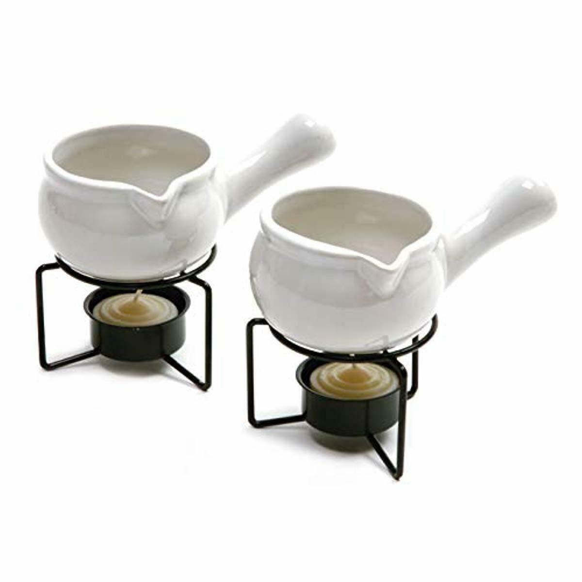 2 Ceramic Butter Warmers for Sauces Crab Lobster Seafood