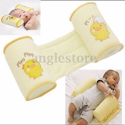 Newborn Baby Infant Sleep Positioner Prevent Flat Head Shape Anti Roll Pillow US