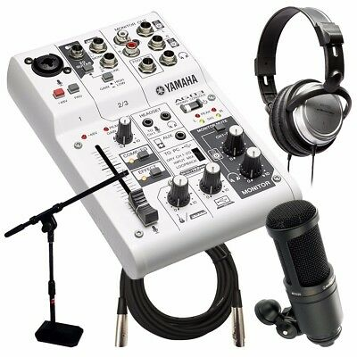 Yamaha AG03 Three Channel Mixer and USB Audio Interface WEBCAST BUNDLE for sale  Franklin
