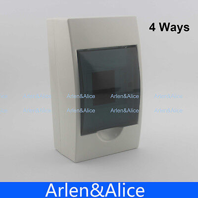 2 - 4 Ways Plastic Distribution Box For Circuit Breaker Indoor On The Wall