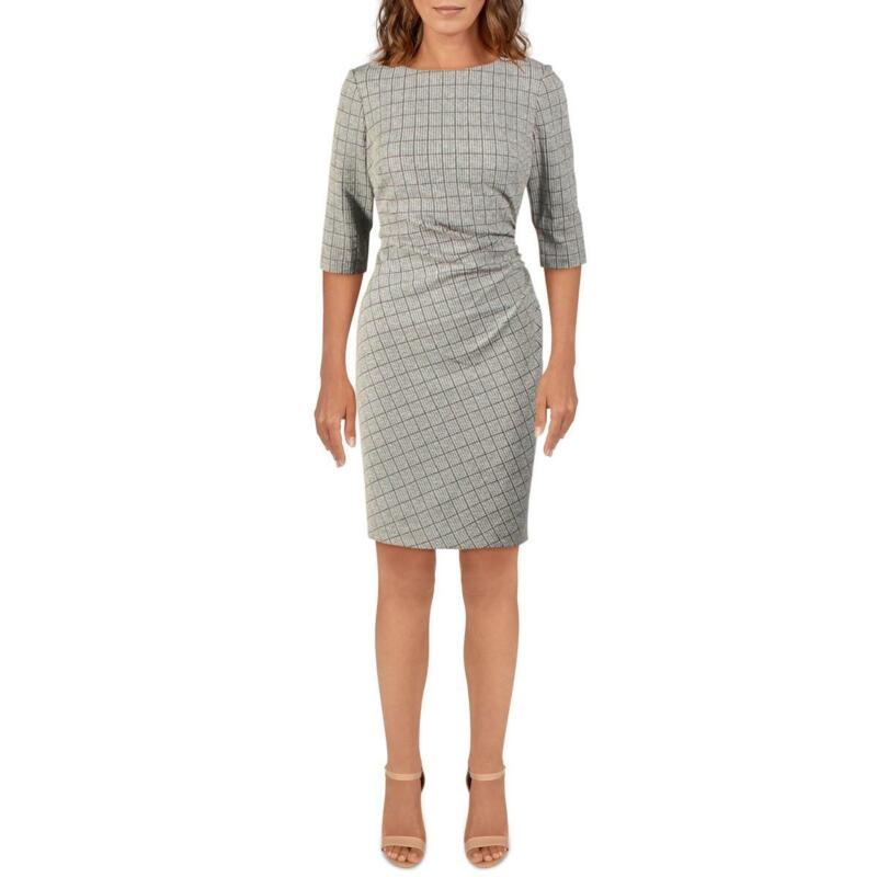 Lauren Ralph Lauren Womens Cierra Houndstooth Wear to Work Dress BHFO 6725