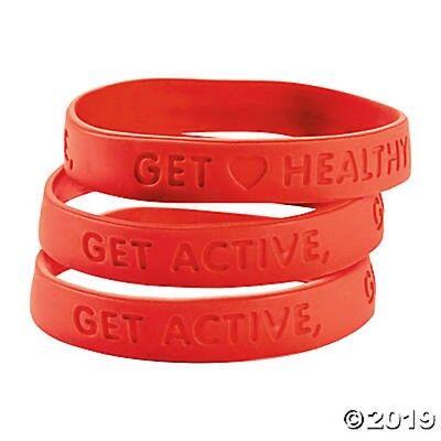 - 24  Red Heart Health Awareness Bracelets Get Active Get Healthy