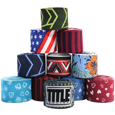 "Title Boxing 180"" Print Semi-Elastic Stretch Mexican Style Handwraps"