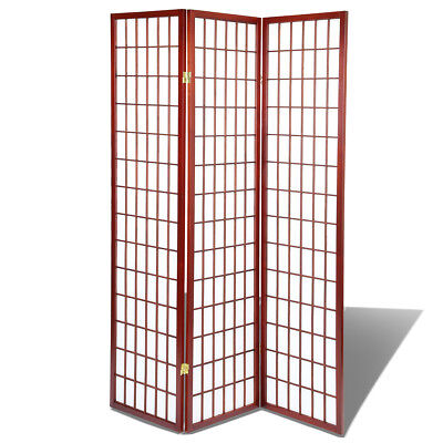Shoji Screen Room Divider/Privacy Wall With Rice Paper Screen Cherry, 3 Panel ()
