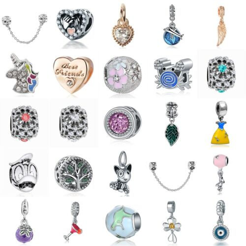european silver charms crystal beads enamel gifts
