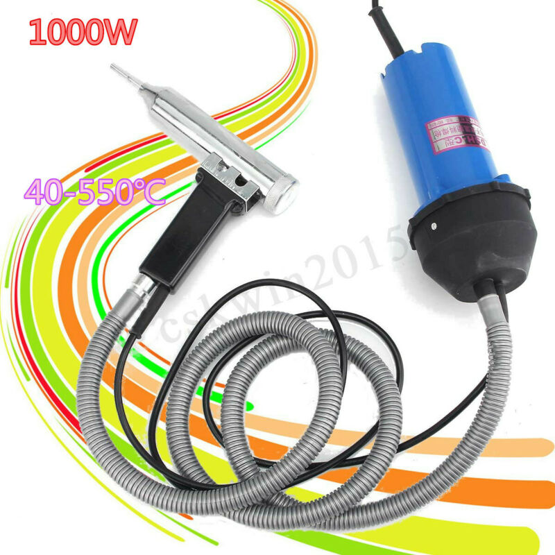 1000W Hot Air Welding Gun Pistol Plastic Welder Heat Gun Hot Gas Welder Kit Set