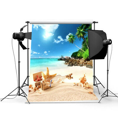 3x5ft Summer Beach Scene Theme Photography Backdrop Photo Background Studio Prop (Scene Backdrops)