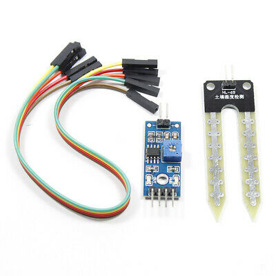 Humidity Soil Hygrometer Moisture Detection Sensor Arduino W Wires Module Blue