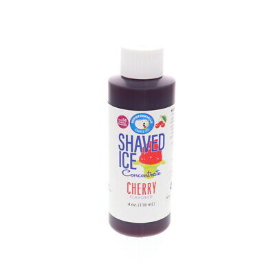 Cherry Hawaiian Shaved Ice And Snow Cone Unsweetened Flavor Concentrate 4 Fl Oz