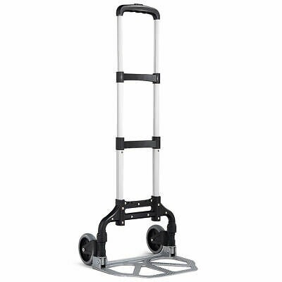 Folding Hand Truck Dolly Aluminum 176 Lbs Capacity Heavy Duty With 2 Wheels New