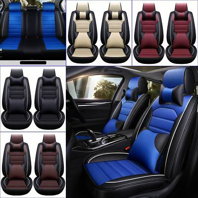 11Pcs Car Seat Cover Protector+Cushion Front & Rear Full Set PU Leather - Explorer Padded Seat