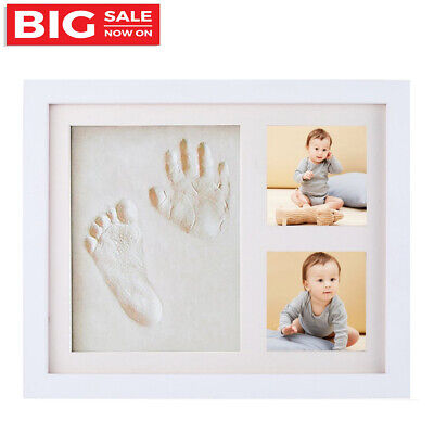 Newborn Baby Clay Handprint Footprint Photo Frame Kit Baby Shower Gifts For Baby