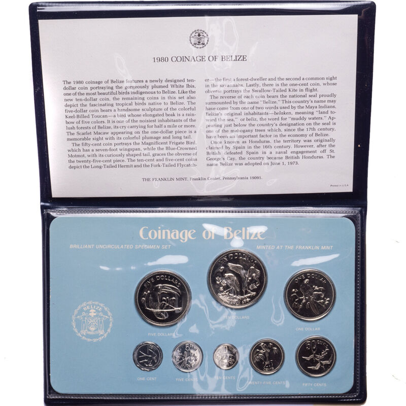 1980 Belize 8-Coin Specimen Set
