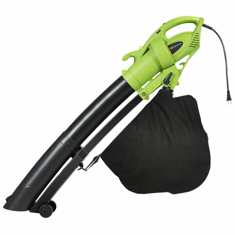 7.5 Amp 3-in-1 Electric Leaf Blower Leaf Vacuum Mulcher 6 Speeds 170MPH