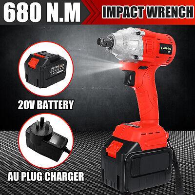 680N.m. Electric Impact Wrench Cordless Brushless Rattle Gun Torque Adapter Kit