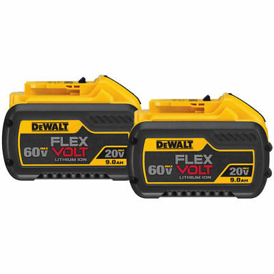 DeWalt DCB609-2 FlexVolt 20/60V MAX Li-Ion Battery Dual Pack
