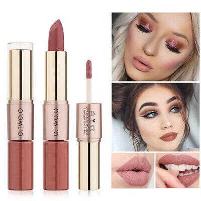 O.TWO.O 2-in-1 Double Head Lip Gloss Lip Liner Pen Matte Waterproof Lipstick (Lipstick Pens)