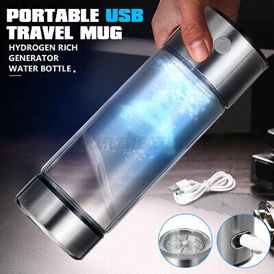 Portátil USB Charge Hidrógeno Generador Rico Agua Ionizador Alcalina Botella