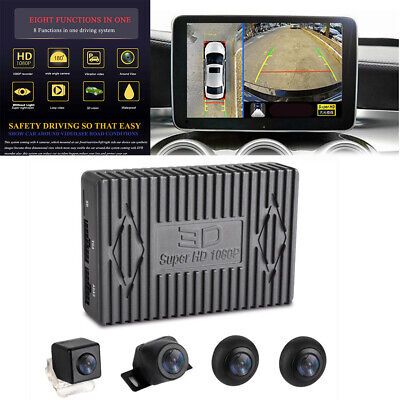 HD 1080P 4 Camera Night Vision Bird View Parking System ADAS Driving Record for sale  Cerritos