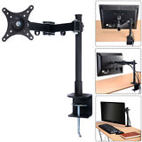 """Single Arm Monitor Desk Table Mount Stand/For 1 LCD Fully Swivel Clamp upto 27"""""""