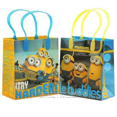 Despicable Me Minions Licensed Reusable Small Party Favor Goodie 12 Bags  - Despicable Me Party Bags