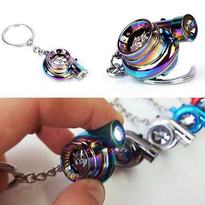 Neo Turbo Keychain Mini Keyring Rainbow LED BOV Sound Turbocharger Car Drift UK
