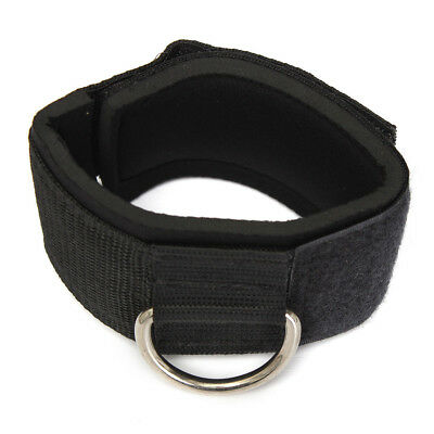 Ankle Strap D-ring Gym Cable Attachment Thigh Leg Pulley Weight Lifting Black L2
