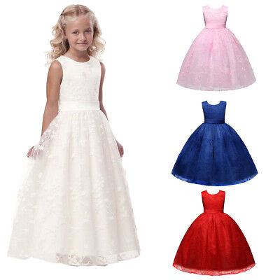Blumenmädchen Kleid Kinder Lang Abendkleid Kommunionkleid Partykleid Festkleider