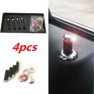 4Pcs 100  Real Carbon Fiber Auto Car Interior Dash Door Lock Handles Knob Pins