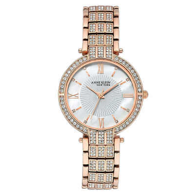 Anne Klein New York Swarovski Crystal Rose Gold Tone Women's Watch (12/2286MPRG)