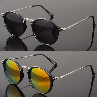 Retro Fashion Full Frame Flash Mirror Lens Round Vintage Master Sunglasses